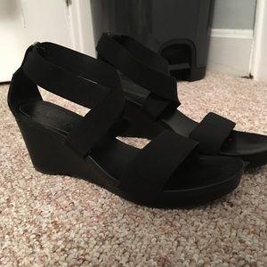 Lauren Ralph Lauren Black wedge sandals
